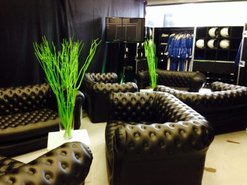 Canape chesterfield gonflable en location