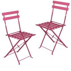 Chaise bistrot fushia - Mobilier de terrasse en location