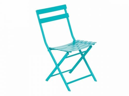 Chaise bistrot turquoise - Mobilier de terrasse en location