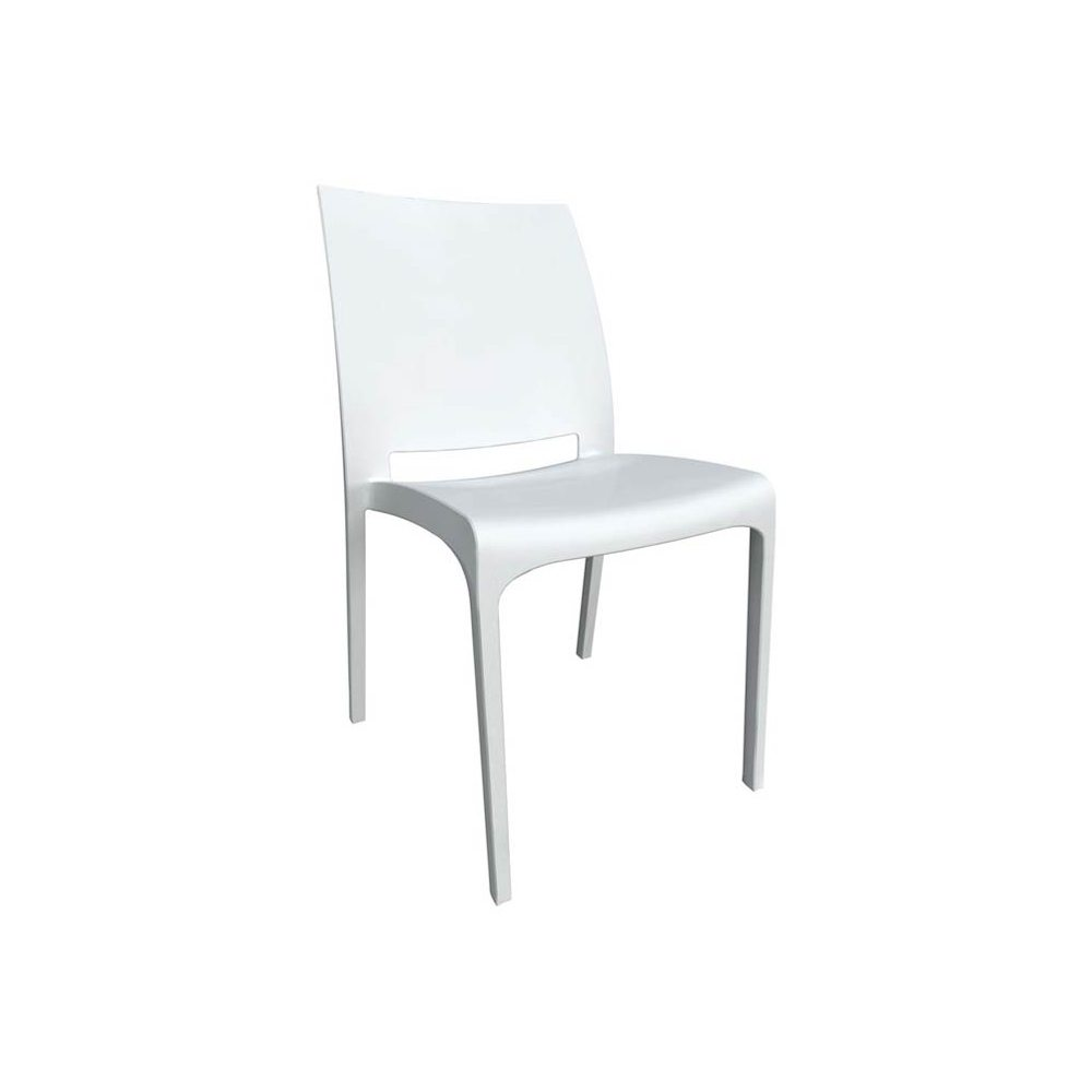 Location chaises design blanches banquets et events ml for Chaise blanche