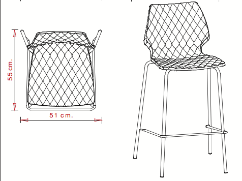 Chaise haute blanche en location - Tabouret de bar en location