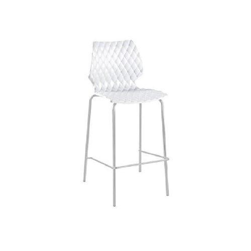 Chaise haute design blanche - Tabouret de bar en location