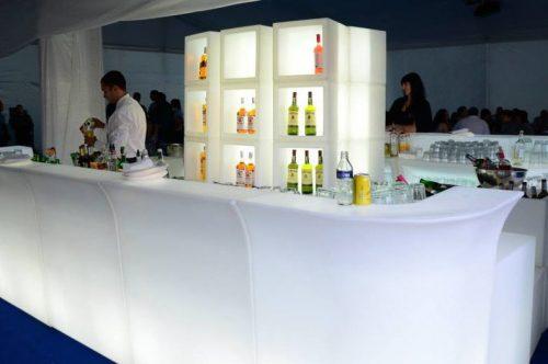 Bar lumineux led en location