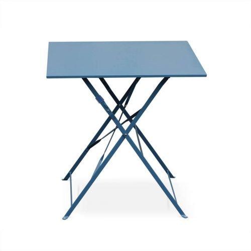 Location table bistro bleue carrée pour 2 personnes