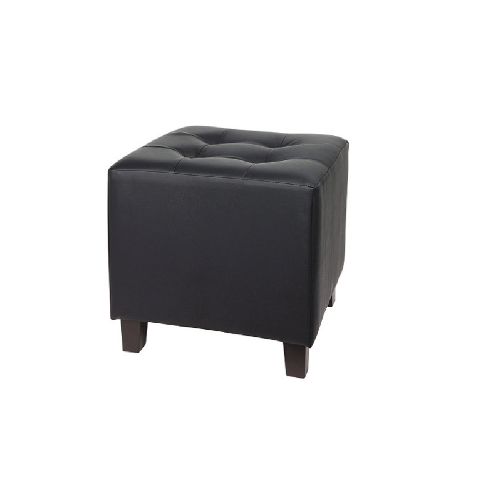 pouf en cuir louer couleur noir ml locations. Black Bedroom Furniture Sets. Home Design Ideas