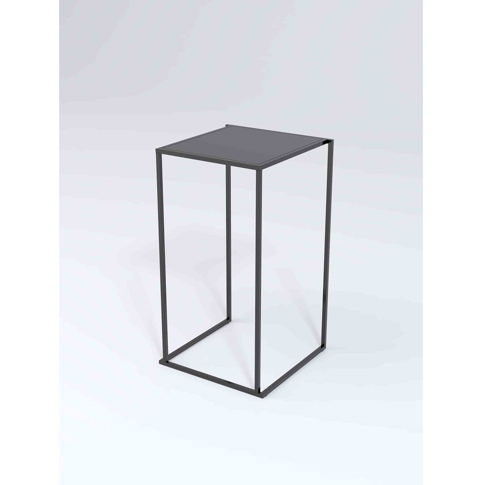 19a302cab73af1 Location table mange-debout Quadra noire 80 cm   ML Locations