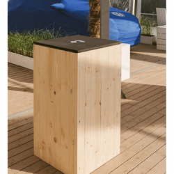 Location de table Wood en location - Table mange-debout en location