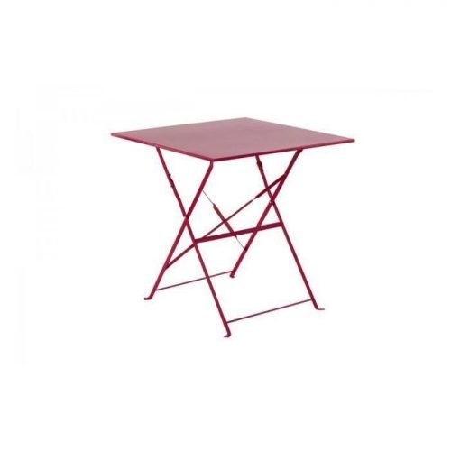 Location table bistrot carré fushia - mobilier de terrasse en location