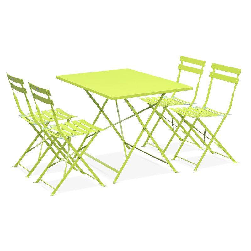 Table Bistro Rectangulaire 4 Personnes