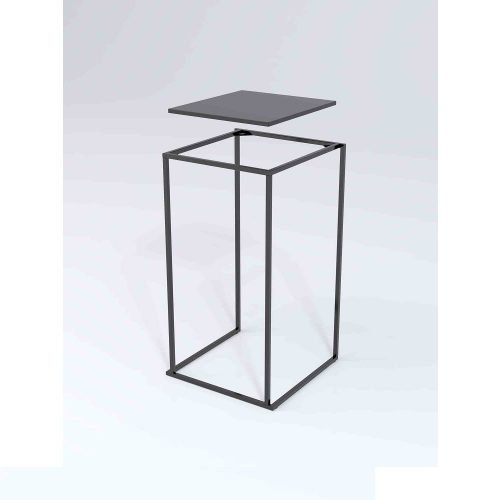 Location de table quadra noire - location table mange debout