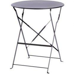 Location table bistro grise ronde pour 2 personnes