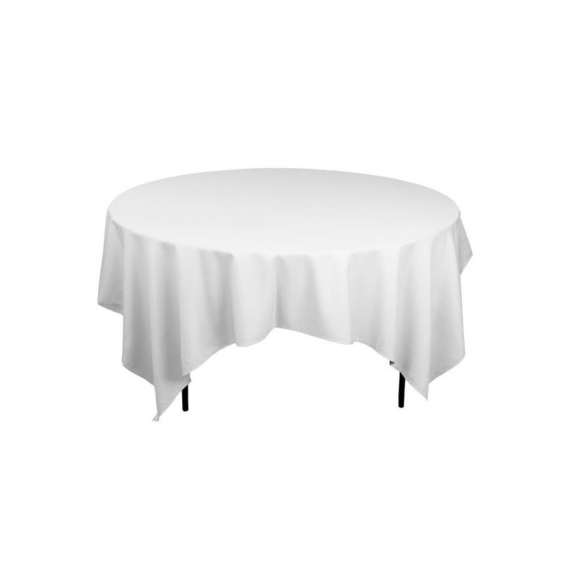nappe blanche 220x220cm table ronde 8p ml locations. Black Bedroom Furniture Sets. Home Design Ideas