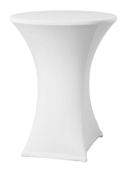 Location de tables et nappes mange debout blanche - Nappes en location