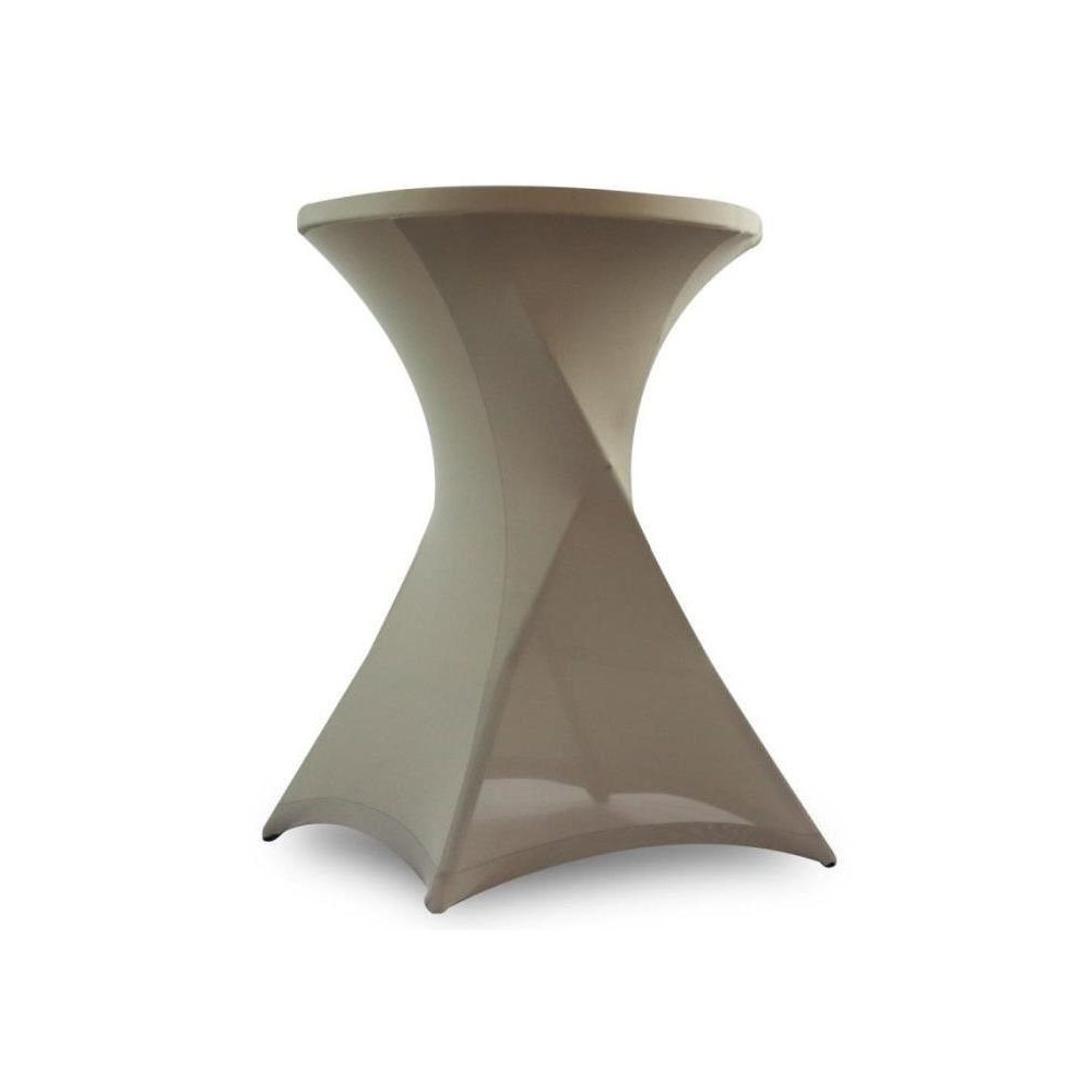 Nappe table mange-debout taupe