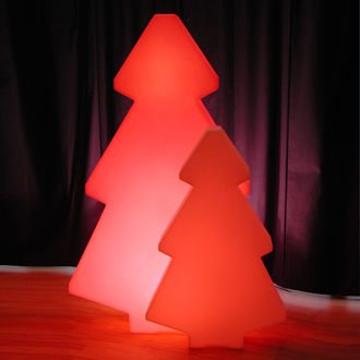 sapin LED red en location - déco hivernale