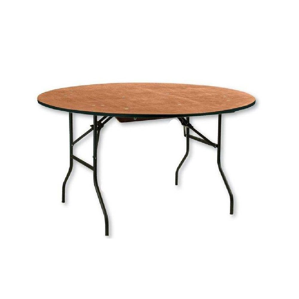 Location table ronde table ronde 180 cm 12 personnes - Table en bois ronde ...