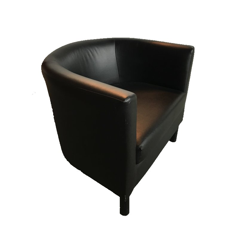 location chaise fauteuil simili cuir noir une place. Black Bedroom Furniture Sets. Home Design Ideas