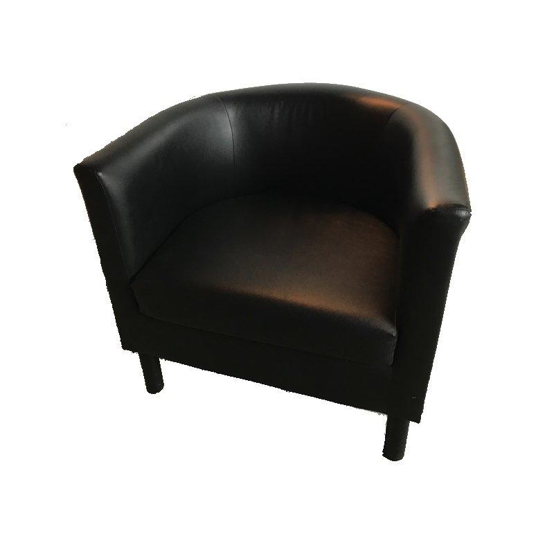 Location Chaise Fauteuil Simili Cuir Noir Une Place ML Locations - Fauteuil en cuir