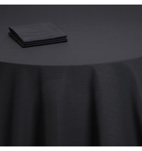 location nappe noir 220x220cm table ronde 8 personnes ml locations. Black Bedroom Furniture Sets. Home Design Ideas