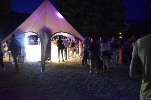 location tente etoile 10m taupe - tente de réception starshade