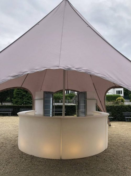 Location tente reception - Starshade couleur taupe