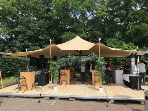 Tente de réception en location - location tente stretch couleur sable